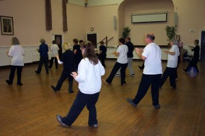 Tai Chi class, 24 forms