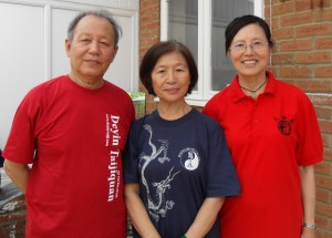 Professor Li Deyin, Mrs Men Bao and Mrs Li